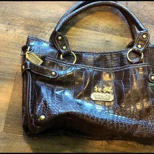 Leather Coach purse